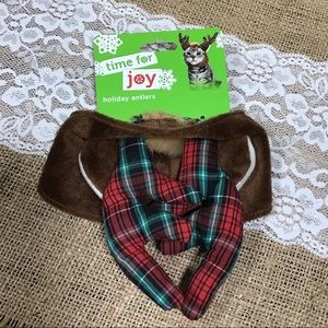 Time for Joy Pet Holiday Antlers Costume Hat